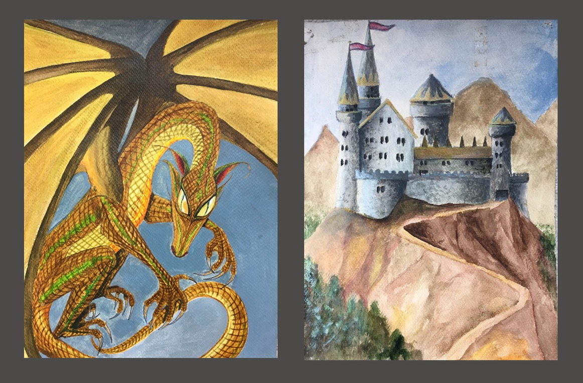 Dragon, castle