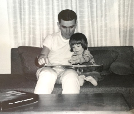 Me and dad, reading
